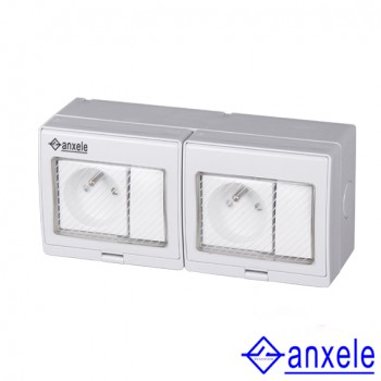 ASW-2FRS 2 Gang Switch 2 Gang Socket
