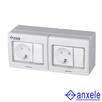 ASW-2SRS Waterproof German Type Socket and Switch