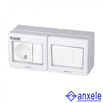 ASW-SR4S Waterproof German Type Socket and Switch