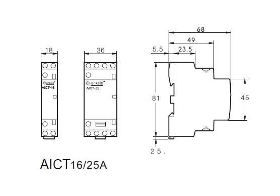 AICT-25A Modular Contactors
