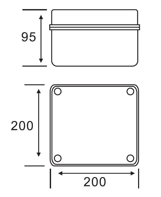 AX-KT 200×200×95 Junction Box