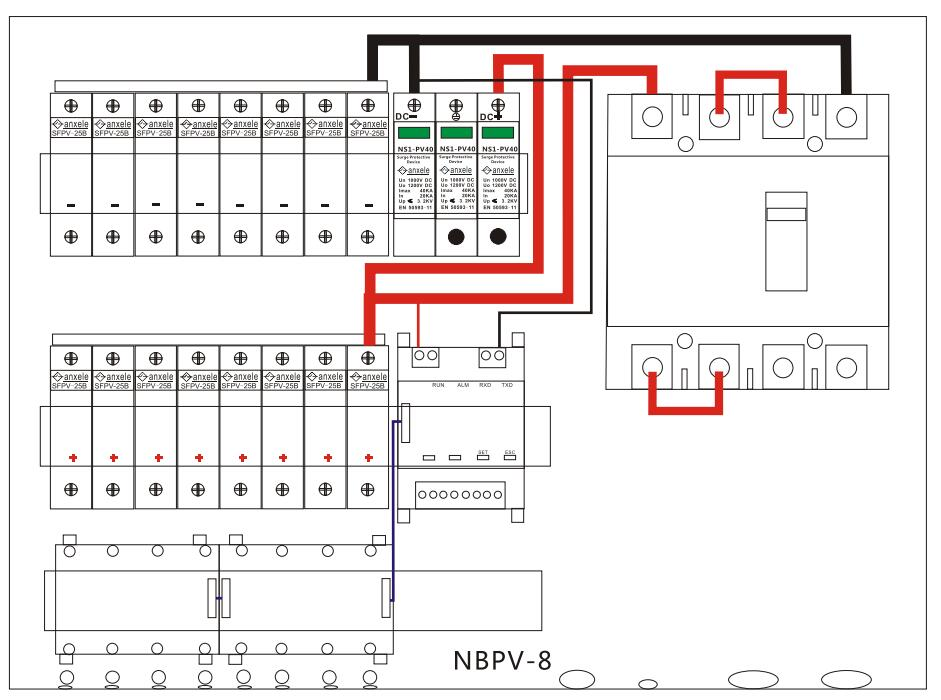 nbpv 8 pv combiner box shanghai anson electric technology co dimensions and wiring diagram